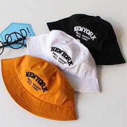 PS Mall 春兒童遮陽帽子純棉字母盆帽太陽帽 【B013】