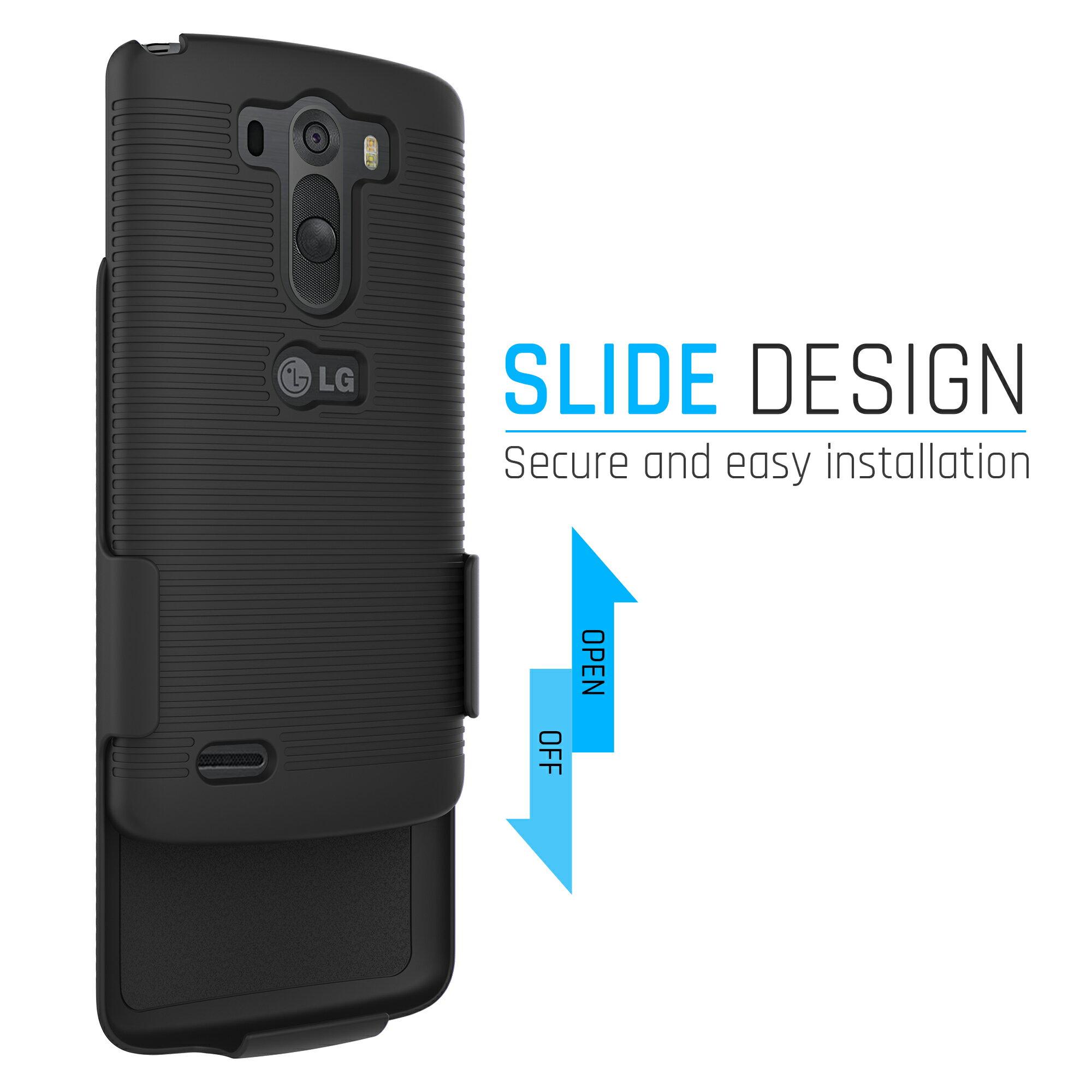 new styles 852df cc8bd LG G3 Holster Case & Belt Clip Combo