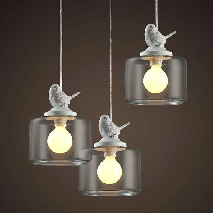 【威森家居】美式 鄉村麻雀小鳥吊燈 現貨原木工業風現代簡約復古吸頂燈吊燈壁燈大廳客廳臥室陽台燈具LED設計師 L160430