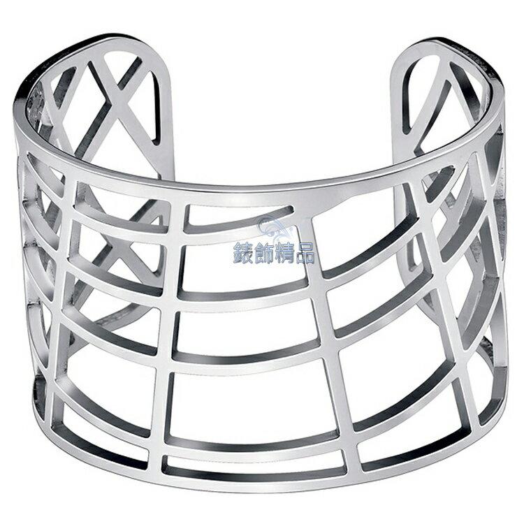 【錶飾精品】CK飾品Calvin Klein女性手環KJ1T白鋼 KJ1TMF0001-銀 摩登都會感 來自星星的你-千頌伊款 全新原廠正品 情人節 生日 禮物