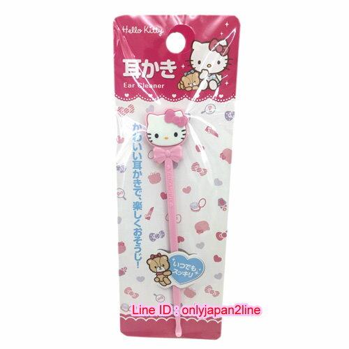 【真愛日本】16110300043挖耳棒-KT立體粉  三麗鷗 Hello Kitty 凱蒂貓 日本限定 精品百貨 日本帶回