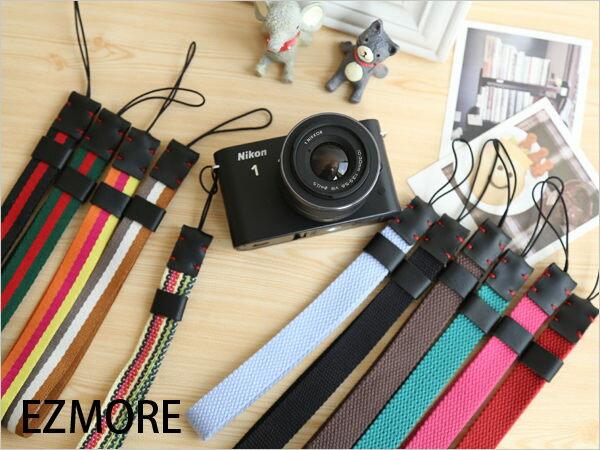 質感彩色真皮手腕帶 相機 類單 手繩 5N GF5 5R GF3 EX2 EX1 ZR1000 GC100 J2 F3【B511434】
