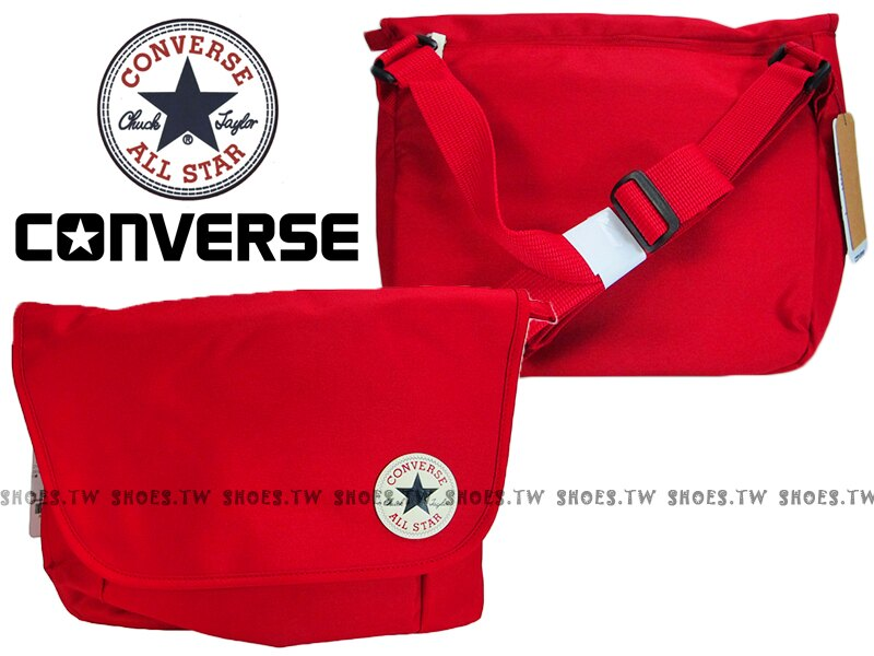 【10002974A02】CONVERSE ALLSTAR 郵差包 紅色 隨行包 側背包【SS感恩加碼 | 單筆滿1000元結帳輸入序號『SSthanks100』現折100元】