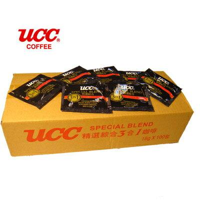 日本【UCC】精選綜合三合一隨身包 16g*100入
