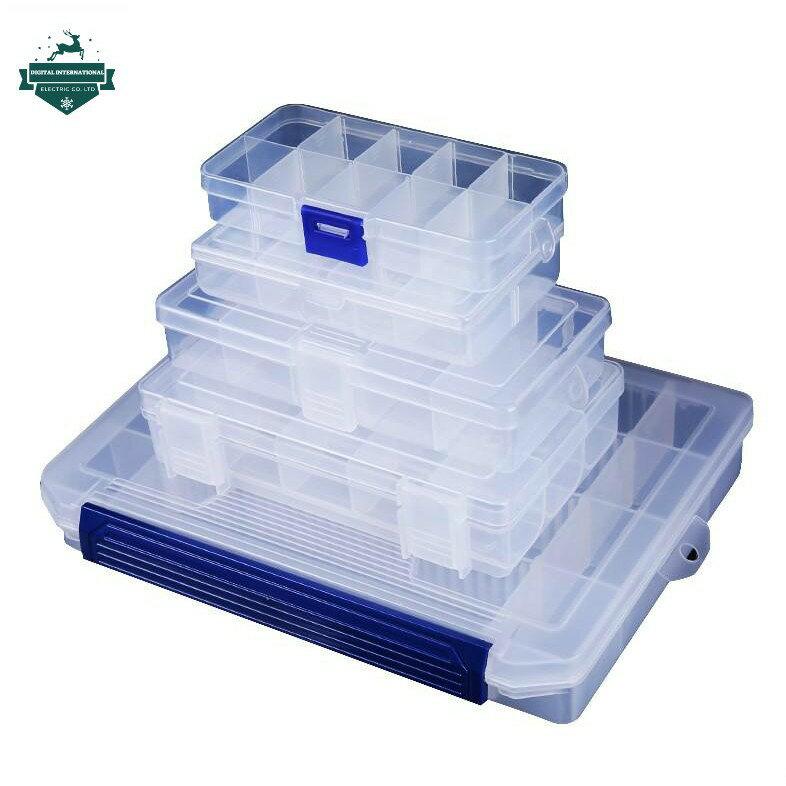 透明儲存盒塑料收納箱收納盒首飾盒工具盒收納10格15格24格整理盒KIM10格整理盒