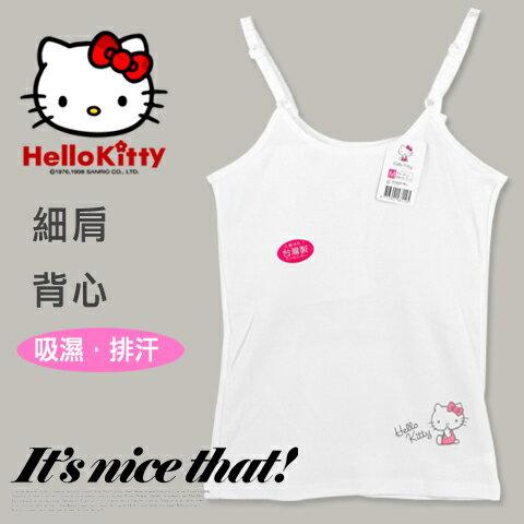 【esoxshop】細肩背心右下印花KT款Kitty內衣台灣製三麗鷗Sanrio