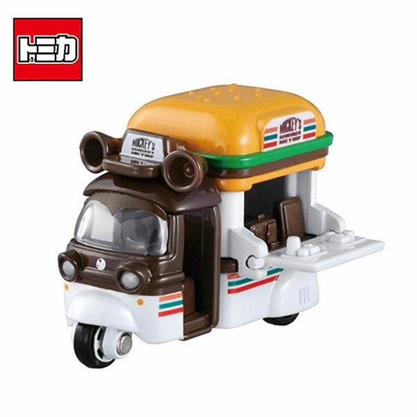 【日本正版】TOMICA米奇漢堡車日本7-11限定款玩具車Disneymotors多美小汽車-882763