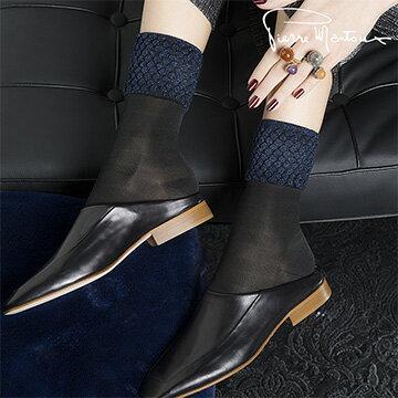 Salon No.5國際精品:{8折}【皮爾曼都PierreMantoux】時尚拼接造型優雅短襪義大利精品