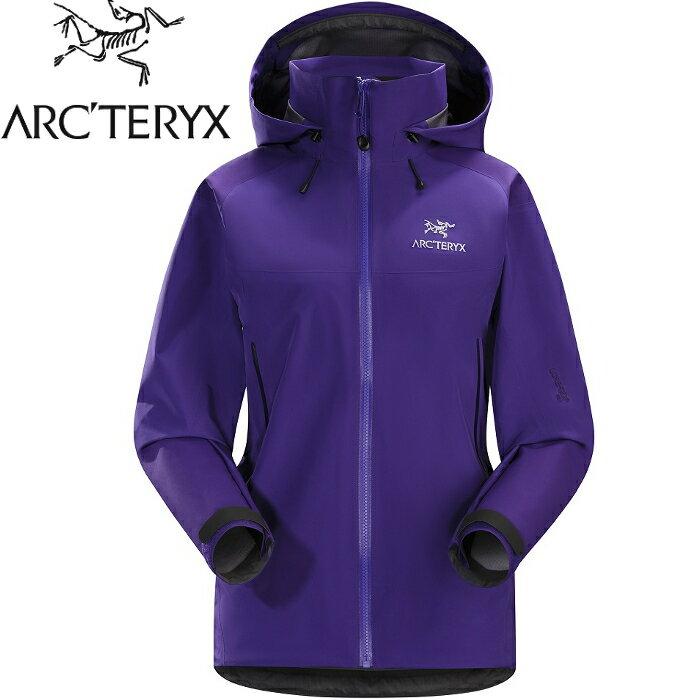 Arcteryx 始祖鳥 登山風雨衣/防水透氣GTX外套 20319 Beta AR 女 Gore-Tex Pro 杜鵑花紫
