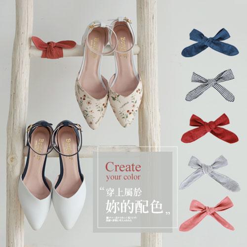 BONJOUR☆2way大容量跟鞋替換專用〈布製鞋帶〉一副【ZBJ-15】5色I.