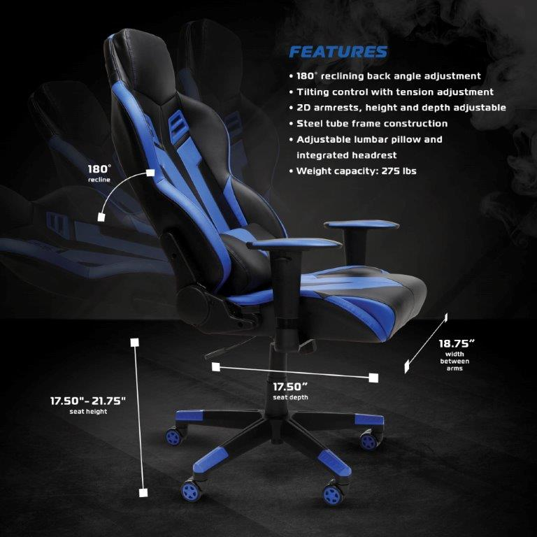 RESPAWN-104 Racing Style Gaming Chair - Reclining Ergonomic Leather Chair, Office or Gaming Chair (RSP-104) 4