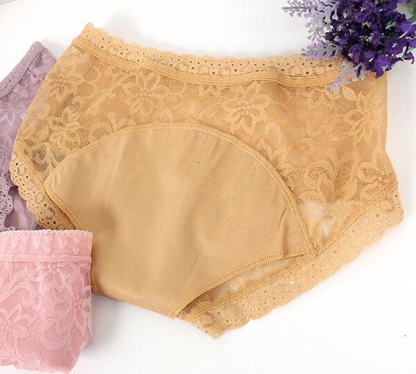 【AJM】親花超透氣低腰生理褲(隨機色) 4