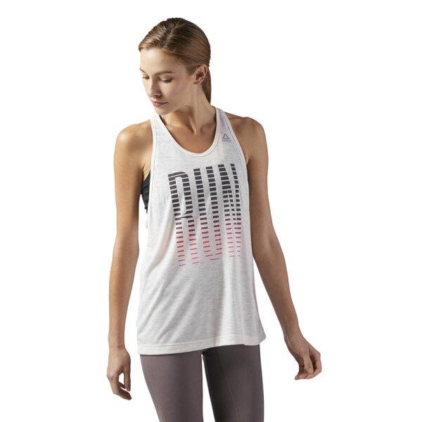 REEBOK女裝背心慢跑瑜珈乾爽透氣網布單面針織白【運動世界】CD5712