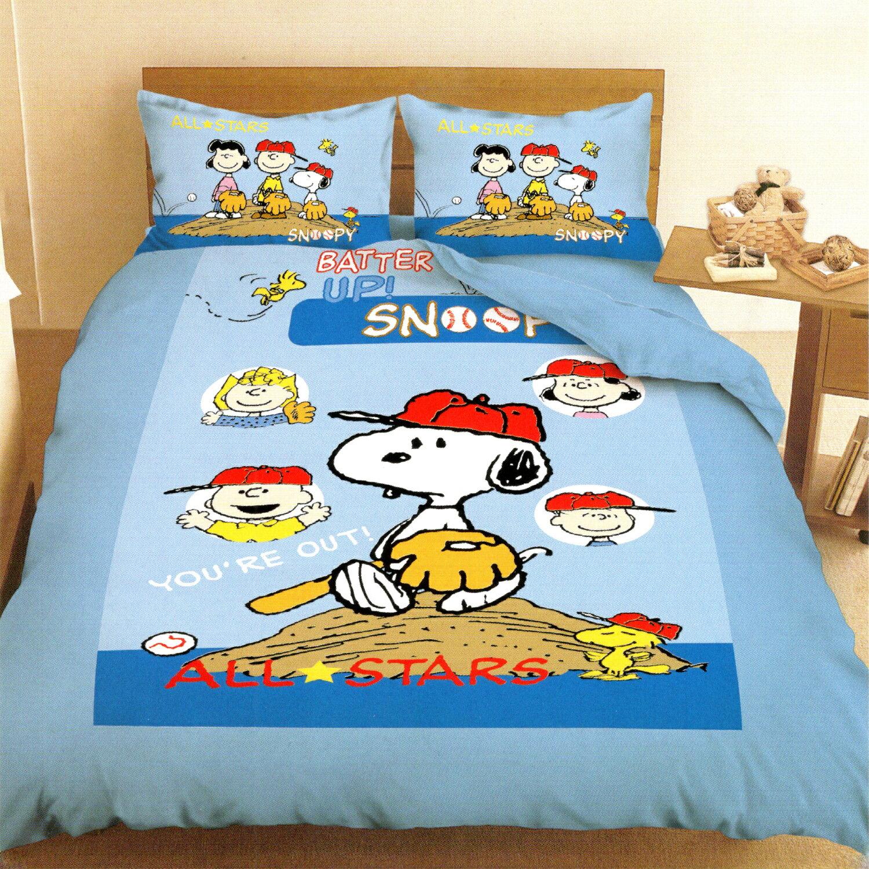 【名流寢飾家居館】Snoopy史努比.棒球.雙人兩用鋪棉被套.全程臺灣製造