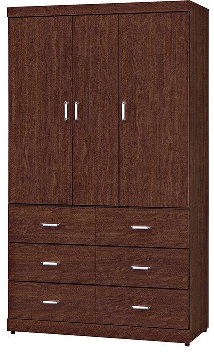 【尚品家具】HY-A206-04 泰勒胡桃平面4X7尺衣櫥