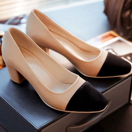 高跟鞋 名模最愛小香風撞色包鞋【S1533】☆雙兒網☆ 4