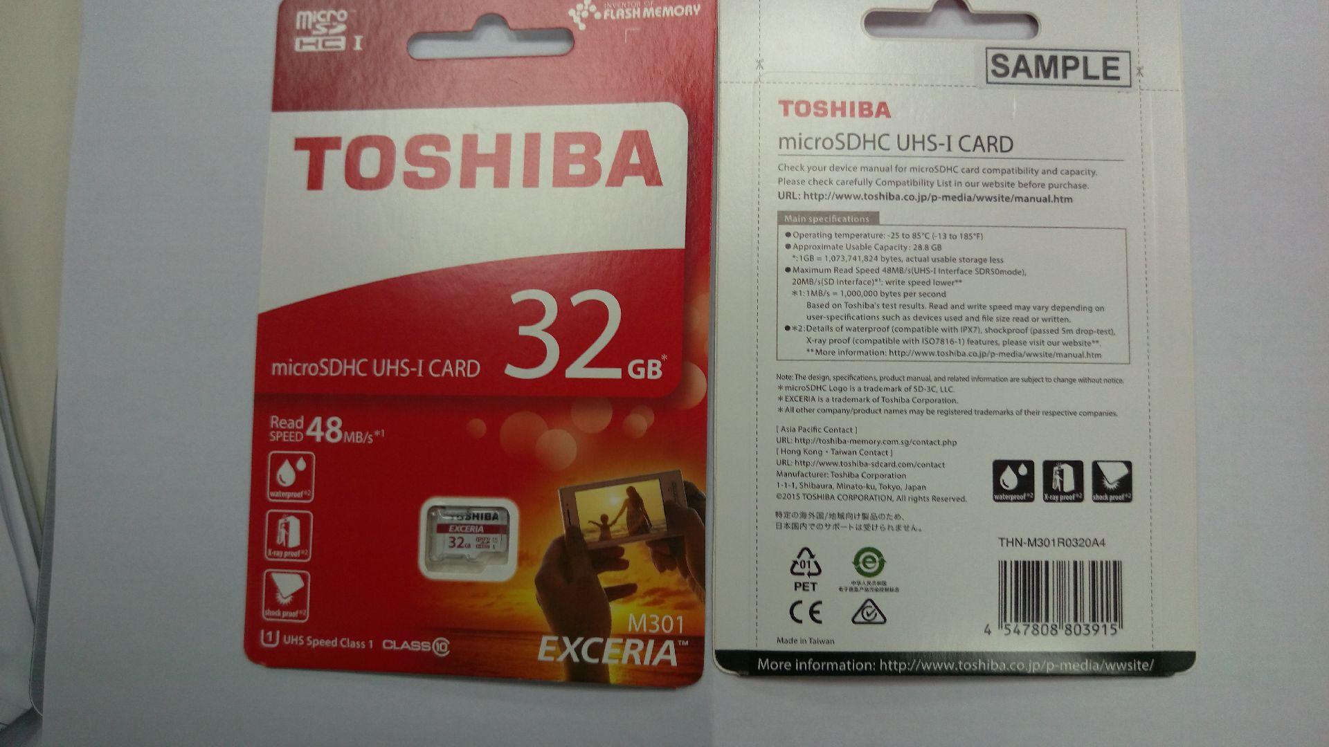 microSDHC【UHS-I】TOSHIBA 32G 記憶卡(THN-M301R0320A4)