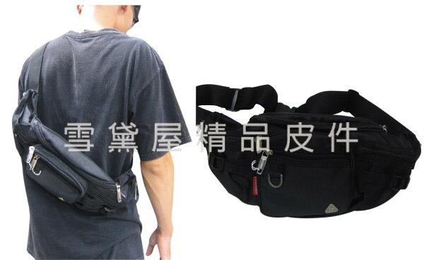 ~雪黛屋~GRENADE臀包大容量主袋6吋機護套工作胸前包防水尼龍布貼身防盜隨身物品青少全齡適用014G055