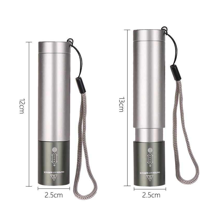 頭燈 T6手電筒 鋁合金變焦USB充電內置電池輸入輸出應急強光手電筒