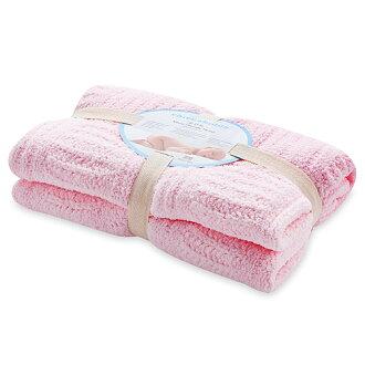 【淘氣寶寶】奇哥 立體格紋柔舒毯(小-80×100公分)(粉色)【奇哥正品】