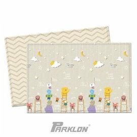 【淘氣寶寶】韓國 Parklon帕龍-PVC雙面包邊地墊(遊戲墊) 動物星空款 190*130*1.2