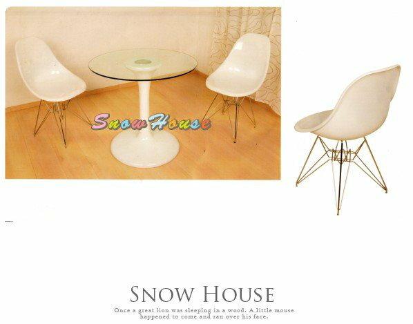 ╭☆雪之屋居家生活館☆╯AA599-08A18造型椅(鐵腳白色)鐵腳椅洽談椅會議椅休閒椅造型餐椅不含桌子
