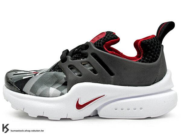 [14cm] 2016 台灣未發售 NSW 輕量舒適 NIKE LITTLE PRESTO TD BT 幼童鞋 BABY 鞋 黑灰紅 輕量好穿 (859598-001) !