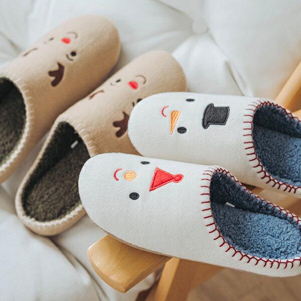 聖誕保暖拖鞋 聖誕節交換禮物 聖誕節雪人 / 麋鹿保暖拖鞋 秋冬新款 christmas J HOME+ 就是家 樂天雙12 1