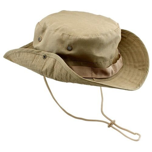 e5dfce1f2b Fishing Hunting Bucket Hat Boonie Outdoor Cap Washed Cotton Military Safari  Summer Men - Khaki 0