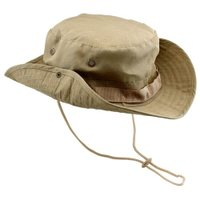 Fishing Hunting Bucket Hat Boonie Outdoor Cap Washed Cotton Military Safari Summer Men - Khaki