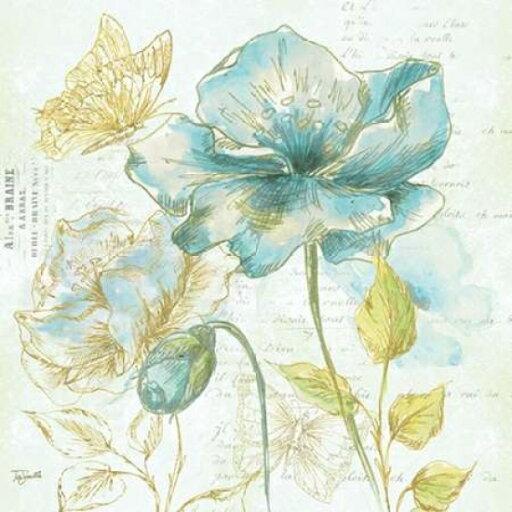 Watercolor Flower Sketch Blue II Poster Print by Tre Sorelle Studios (12 x 12) fa50aa334f46ff8deb63710c7aec8974