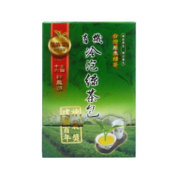 佳芳茶園~有機冷泡綠茶包3公克30包/盒~特惠中~