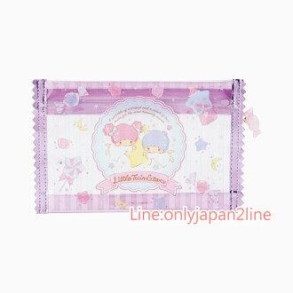 【真愛日本】4901610669013 造型糖果扁筆袋-TS+AAG Kikilala 雙子星 鉛筆盒 收納包 預購