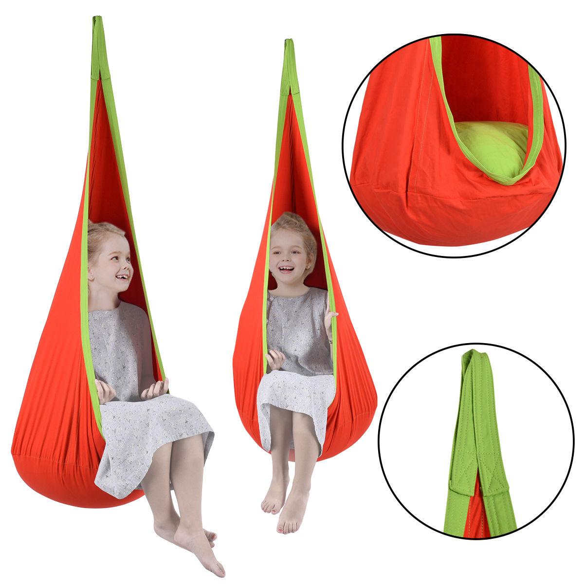 Fabulous Costway Child Pod Swing Chair Tent Nook Indoor Outdoor Hanging Seat Hammock Kids Uwap Interior Chair Design Uwaporg