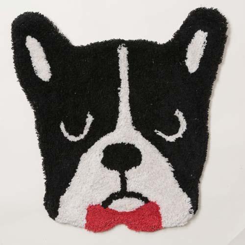 日本代購預購 毛小孩 法國鬥牛犬造型圖案 小狗圖案 大門浴室地毯地墊腳踏墊 809-249