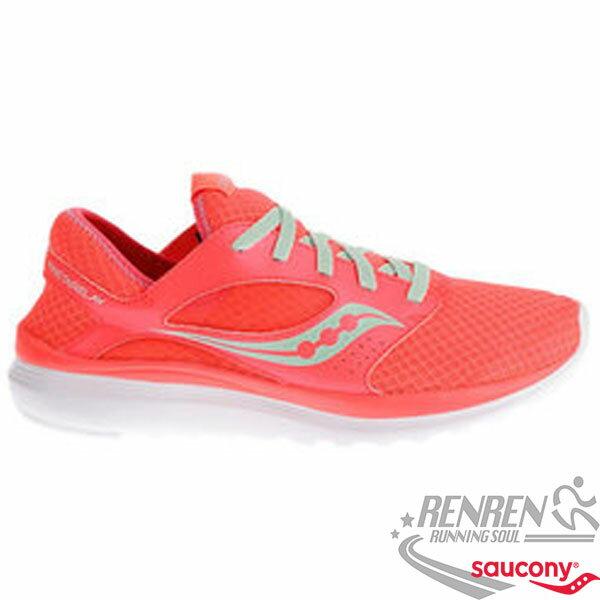 SAUCONY KINETA 女慢跑鞋  珊瑚橘  避震 輕量.透氣~12  1~31 單