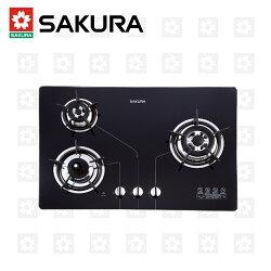 【櫻花牌】三口防乾燒節能檯面爐 G-2830KG (桶裝瓦斯)限北北基配送