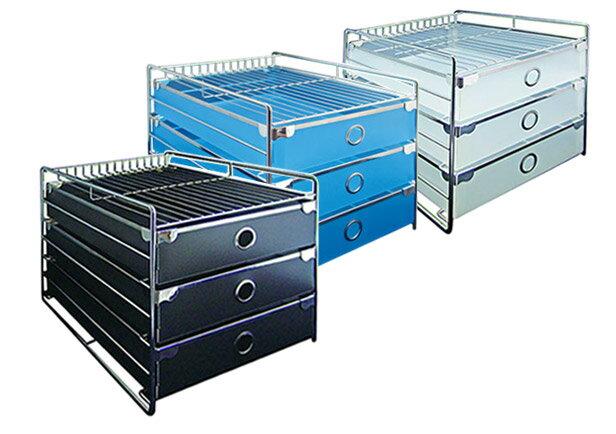 力大 ABEL 收納櫃 60752 歐式三層收納櫃(A4)