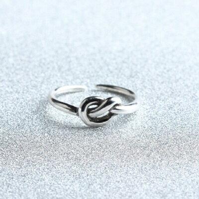 925純銀戒指單結開口戒~ 簡約百搭 情人節生日 女飾品73gp45~ ~~米蘭 ~