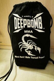 [古川小夫][拳擊有氧]DEEPBOMB設計師健身背包~拳套袋~拳套背包~健身房後背袋~拳擊背包~拳擊手套背袋~道服袋