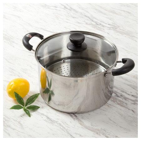 電磁爐瓦斯爐均適用 不鏽鋼雙耳多用鍋24cm
