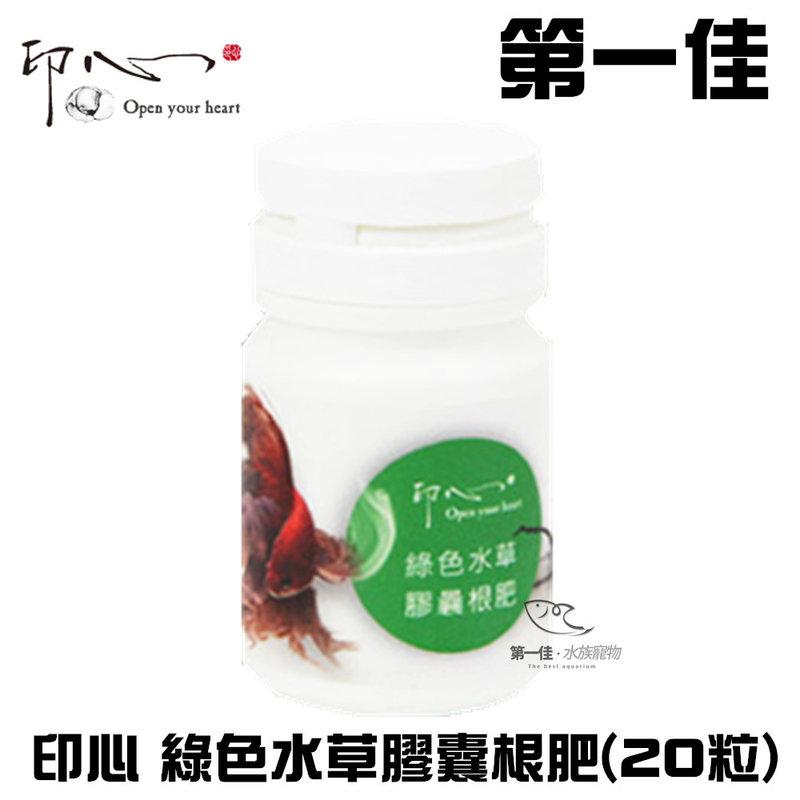 [第一佳 水族寵物]台灣 印心IN-003 綠色水草膠囊根肥 20粒
