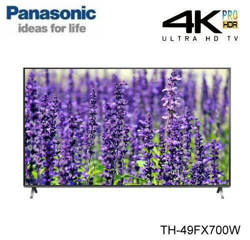 【佳麗寶】-(Panasonic國際牌)49吋六原色4K智慧聯網液晶電視【TH-49FX700W】