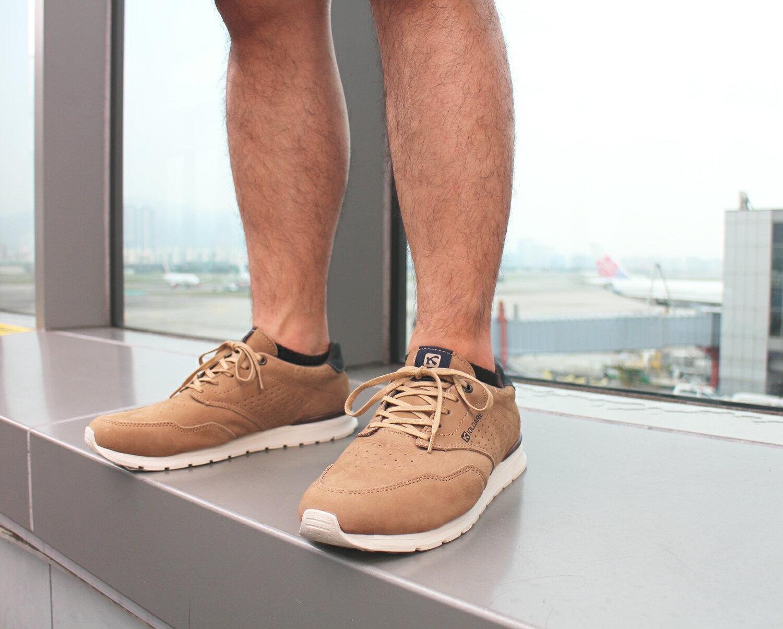 【全店點數15倍送】Kildare 巴西綁帶休閒鞋 淺棕 男 慢跑 2