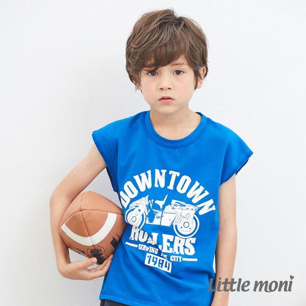 Littlemoni美式無袖上衣-皇家藍