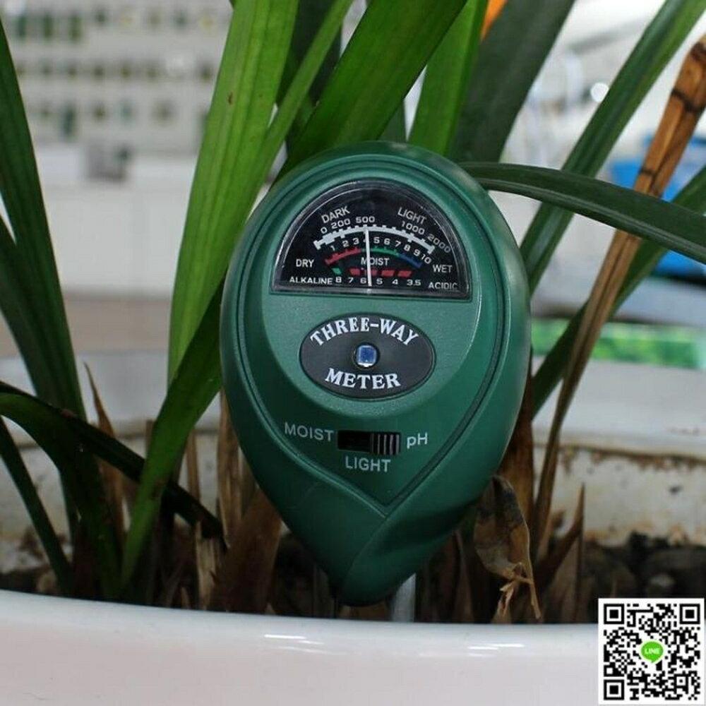 現貨3合1園藝植物花盆檢測儀土壤濕度計/測量酸堿度ph值/光照度測試筆 CY潮流站11-15 母親節禮物