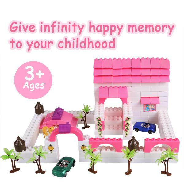 Kid Plastic Building Block Set Preschool Children Playing Toys 2