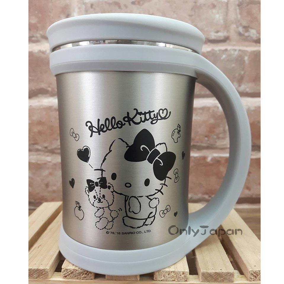 【真愛日本】18022200013 真空保溫保冷杯-KT小熊銀 三麗鷗kitty凱蒂貓 水杯 杯子 保溫杯 保冷杯