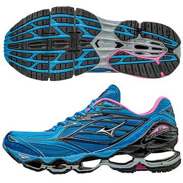 J1GD170003(藍X銀)頂級鞋款 WAVE PROPHECY 6  女慢跑鞋 S【美津濃MIZUNO】