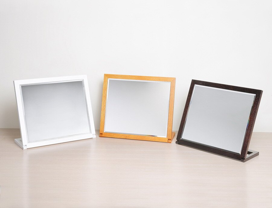 實木桌上鏡 化妝鏡 桌鏡~三色【馥葉】【 型號MR002 】